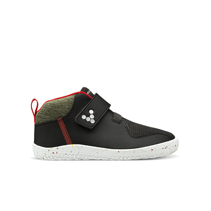 Vivobarefoot Primus Bootie All Weather Kids Obsidian - Sole Mechanics Natural Motion Footwear - Australia & New Zealand