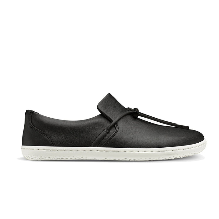Vivobarefoot Ra Slip On Womens Obsidian/White - Sole Mechanics Natural Motion Footwear - Australia & New Zealand
