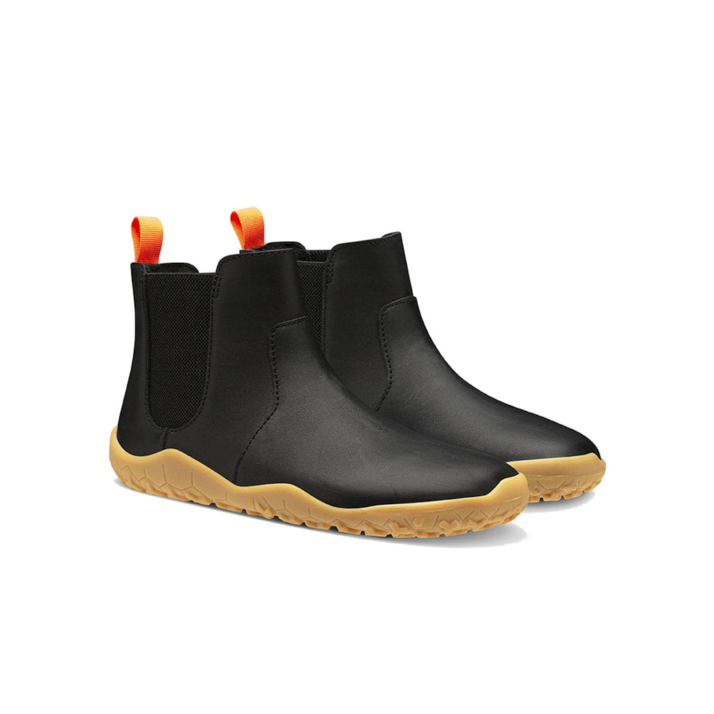 Vivobarefoot Fulham Leather Kids Obsidian - Sole Mechanics Natural Motion Footwear - Australia & New Zealand