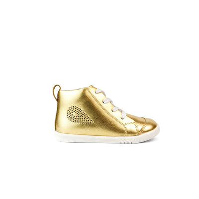 Bobux I Walk Alley-Oop Kids Gold Metallic Side