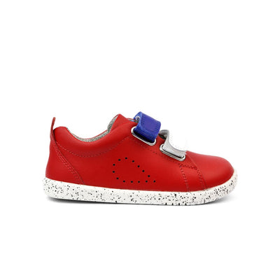 Bobux I Walk Grass Court Switch Kids Red (Blueberry + White) Side