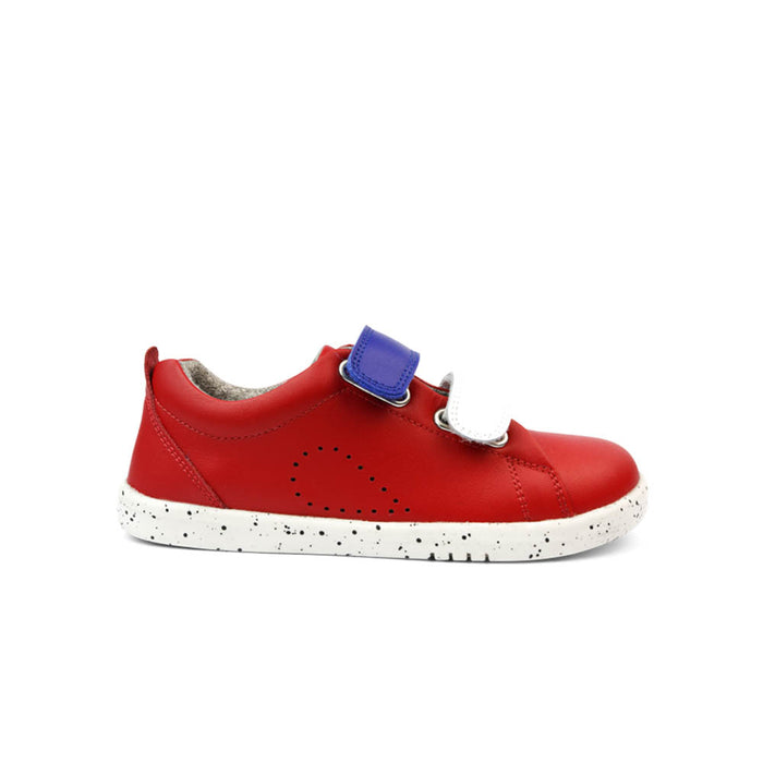 Bobux Kids + Grass Court Switch Kids Red (Blueberry + White) Side