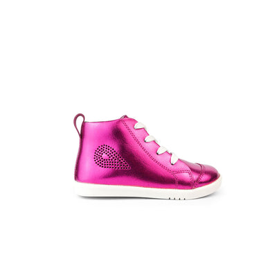 Bobux I Walk Alley-Oop Kids Raspberry Metallic Side