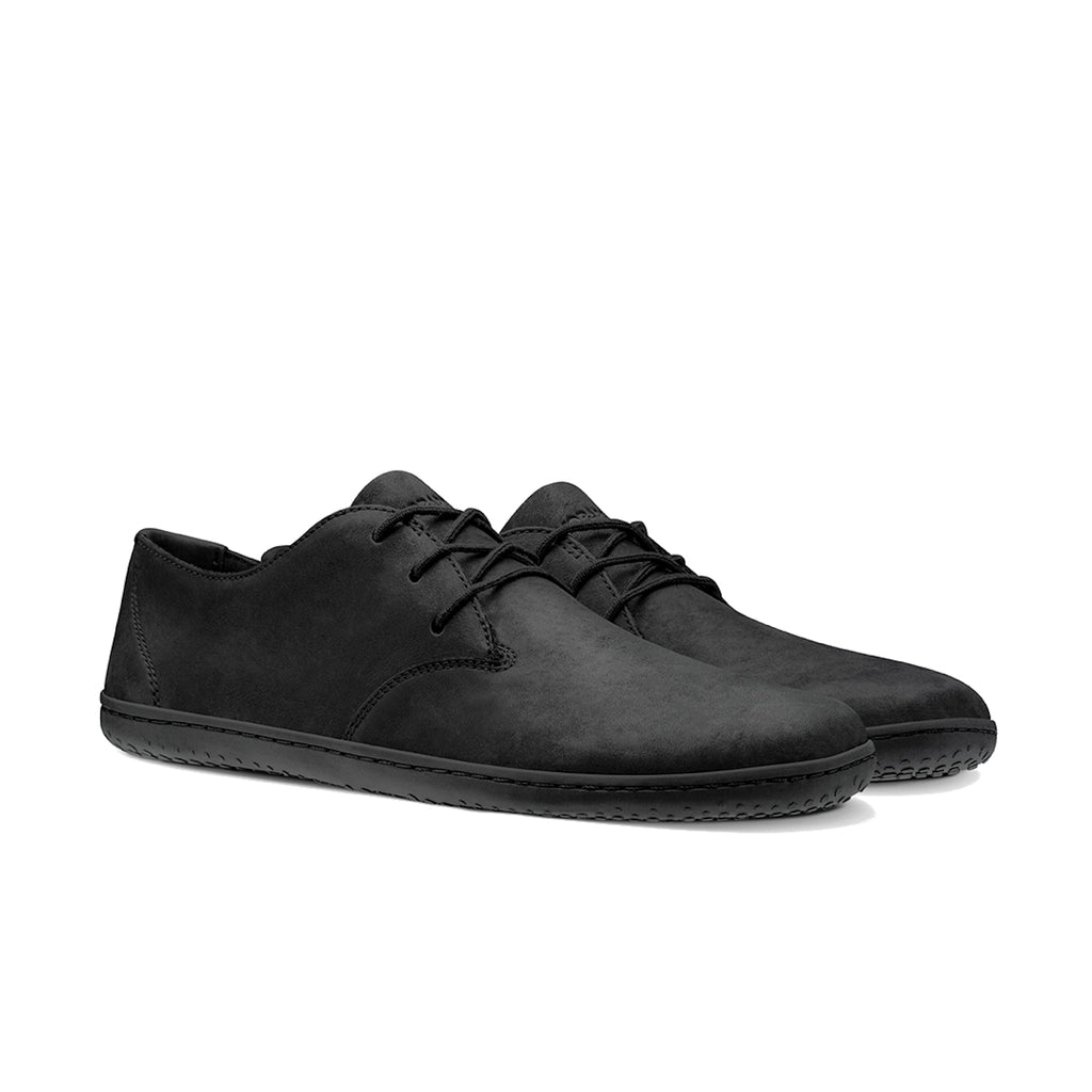 Vivobarefoot Ra II Mens Leather Black/Hide - Sole Mechanics Natural Motion Footwear - Free Shipping for Orders over $100 AUD