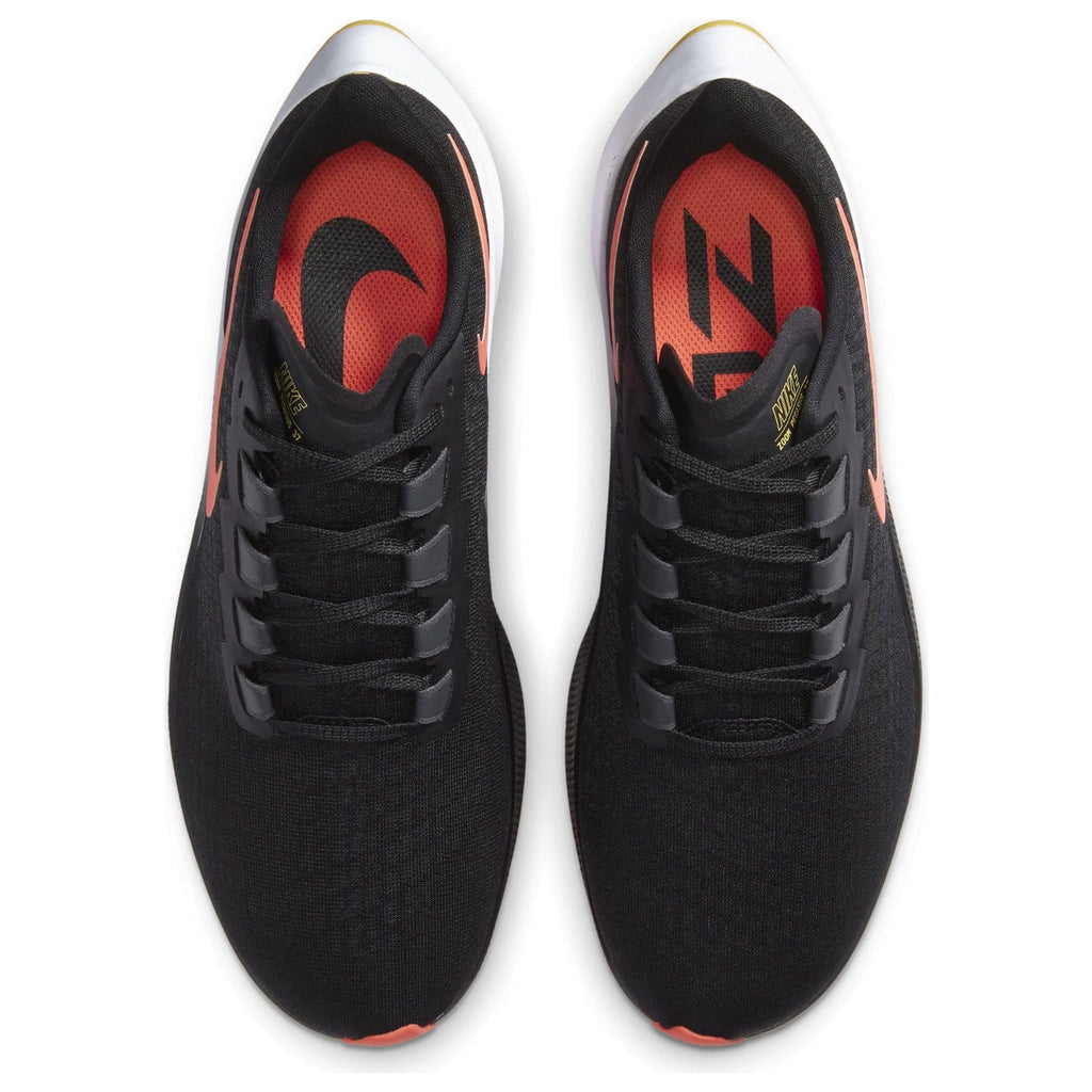 Nike Air Zoom Pegasus 37 Mens Black Bright Mango-Anthracite-White - Sole Mechanics Natural Motion Footwear - Australia & New Zealand