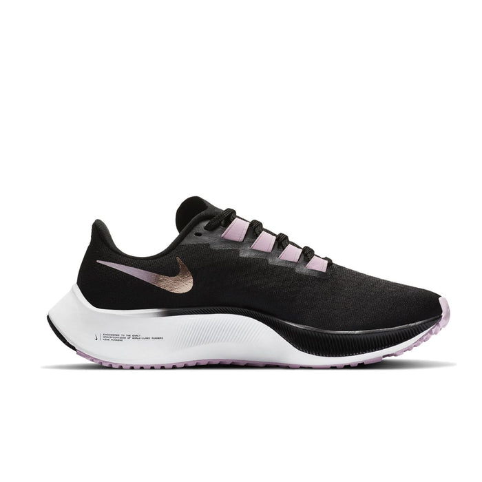Nike Air Zoom Pegasus 37 Womens Black/Metallic Red Bronze-LT Artic Pink