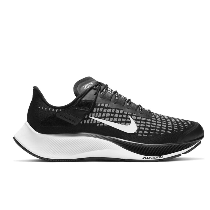 Nike Air Zoom Pegasus 37 FlyEase Womens Black/White-Smoke Grey - Sole Mechanics Natural Motion Footwear - Australia & New Zealand