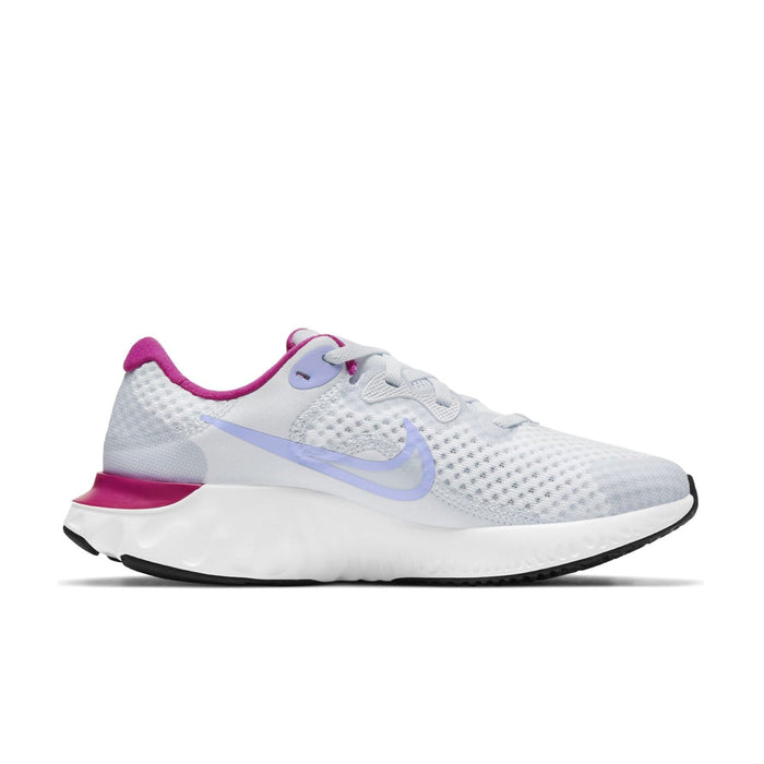 Nike Renew Run 2 Kids Football Grey/Purple Pulse-Fireberry - Sole Mechanics Natural Motion Footwear - Australia & New Zealand