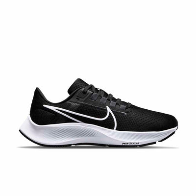 Nike Air Zoom Pegasus 38 Womens Black / White - Anthracite-Volt right view