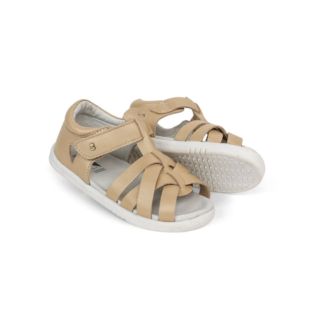 Bobux I-Walk Tropicana Kids Gold - Sole Mechanics Natural Motion Footwear - Australia & New Zealand