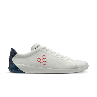 Vivobarefoot Geo Court Eco Mens White | Navy | Red - Sole Mechanics Natural Motion Footwear - Australia & New Zealand