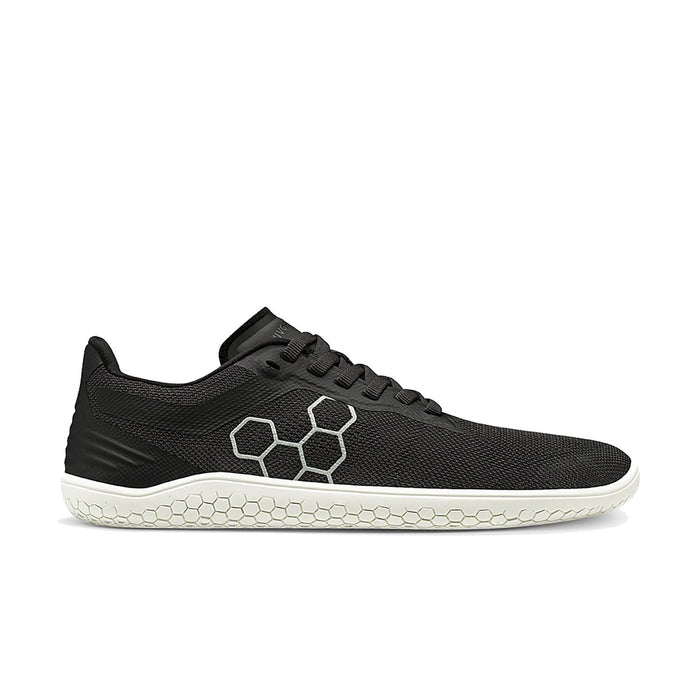 Vivobarefoot Geo Racer Womens Obsidian White - Sole Mechanics Natural Motion Footwear - Australia & New Zealand