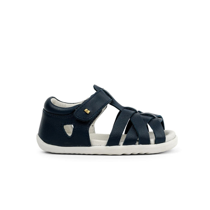 Bobux Step Up Tropicana Kids Navy - Sole Mechanics Natural Motion Footwear - Australia & New Zealand