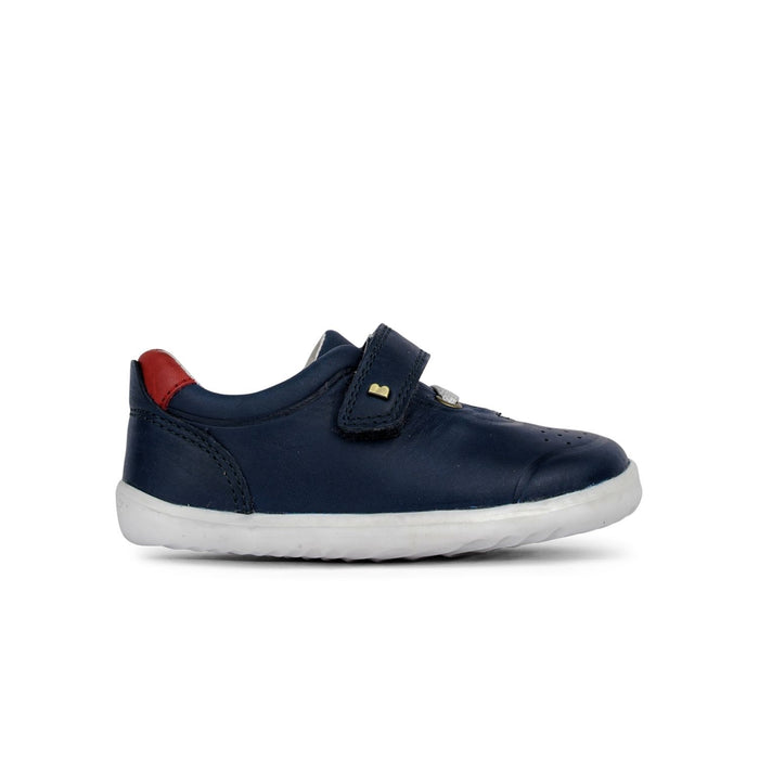 Bobux Step Up Ryder Kids Navy + Red - Sole Mechanics Natural Motion Footwear - Australia & New Zealand