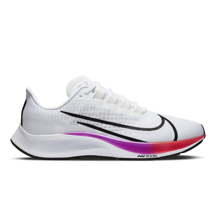 Nike Air Zoom Pegasus 37 Mens White / Black-Hyper Violet-Flash Crimson