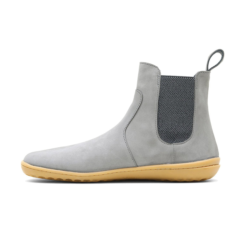 Vivobarefoot Fulham Nubuck Womens Zinc - Sole Mechanics Natural Motion Footwear - Australia & New Zealand