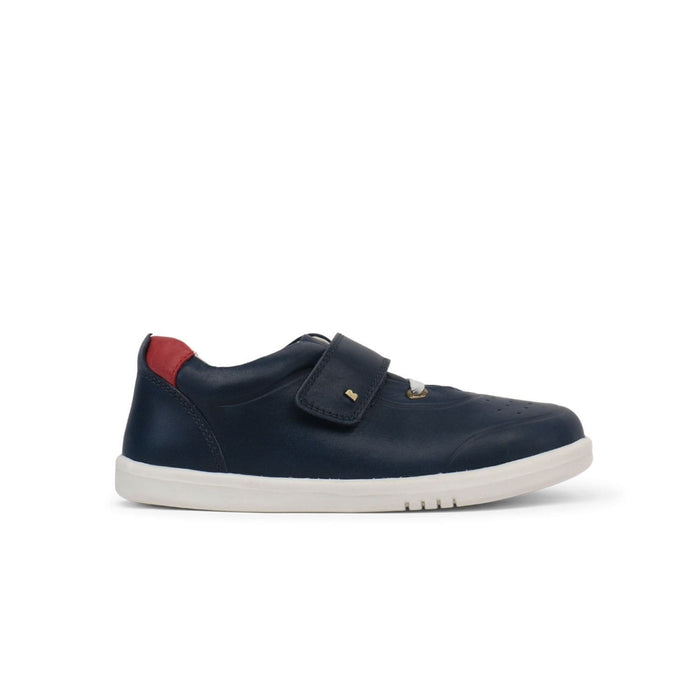 Bobux Kid+ Ryder Kids Navy + Red - Sole Mechanics Natural Motion Footwear - Australia & New Zealand
