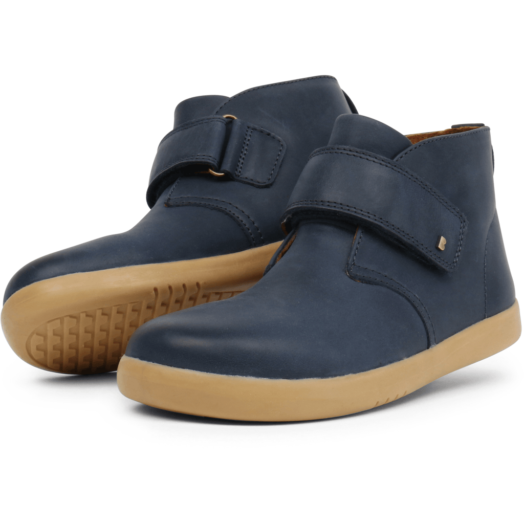 Bobux Kids Bobux i-Walk Desert Boot Kids Navy Bobux IW Desert Boot Navy | Sole Mechanics Barefoot Shoes