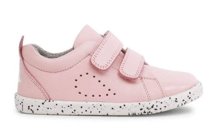 Bobux I-Walk Grass Court Casual Shoe Kids Seashell Pink - Sole Mechanics Natural Motion Footwear - Australia & New Zealand