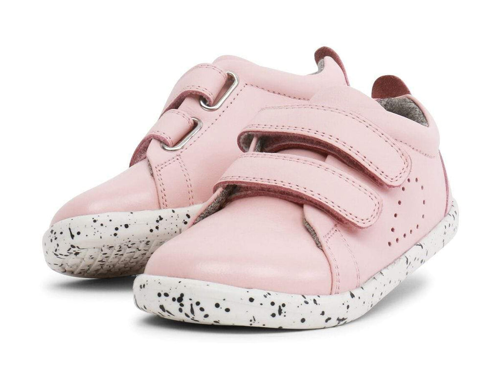 Bobux i-Walk Grass Court Casual Shoe Kids Seashell Pink| Shop for Minimalist & Barefoot Shoes @ Sole Mechanics | Free Delivery on orders over $150