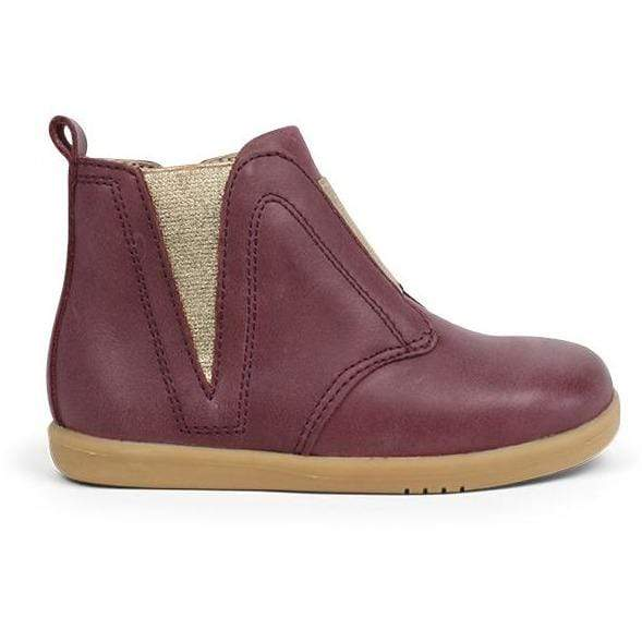 Bobux I-Walk Signet Boot Kids Plum - Sole Mechanics Natural Motion Footwear - Australia & New Zealand