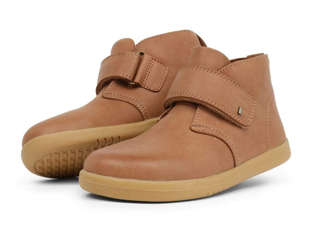 Bobux Kids Bobux Kid Plus Desert Boot Kids Caramel Bobux KP Desert Boot Caramel | Sole Mechanics Barefoot Shoes