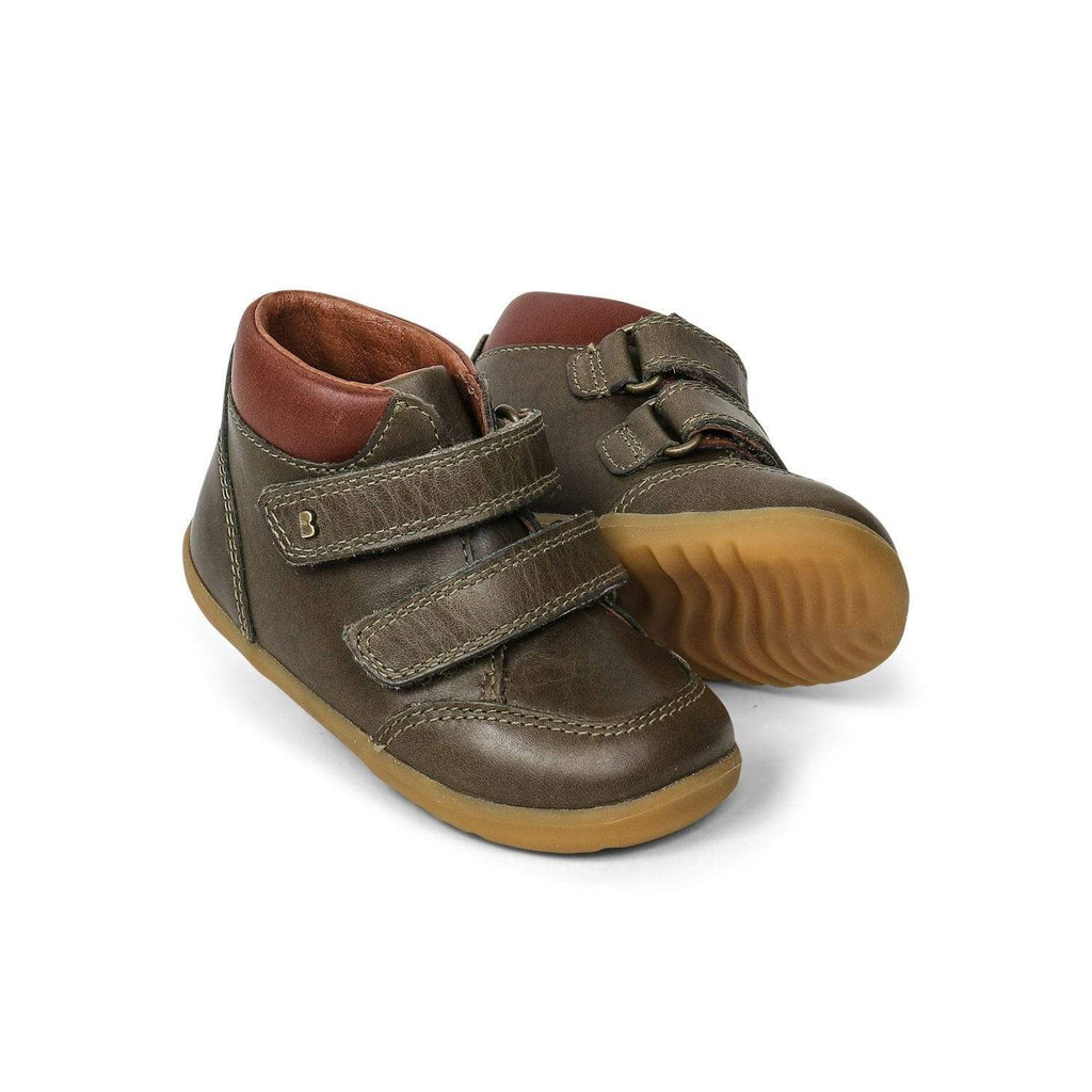 Bobux Step Up Timber Boot Kids Olive - Sole Mechanics Natural Motion Footwear - Australia & New Zealand