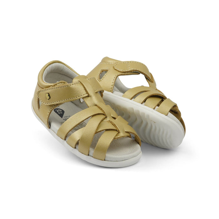 Bobux Step Up Tropicana Kids Gold - Sole Mechanics Natural Motion Footwear - Australia & New Zealand