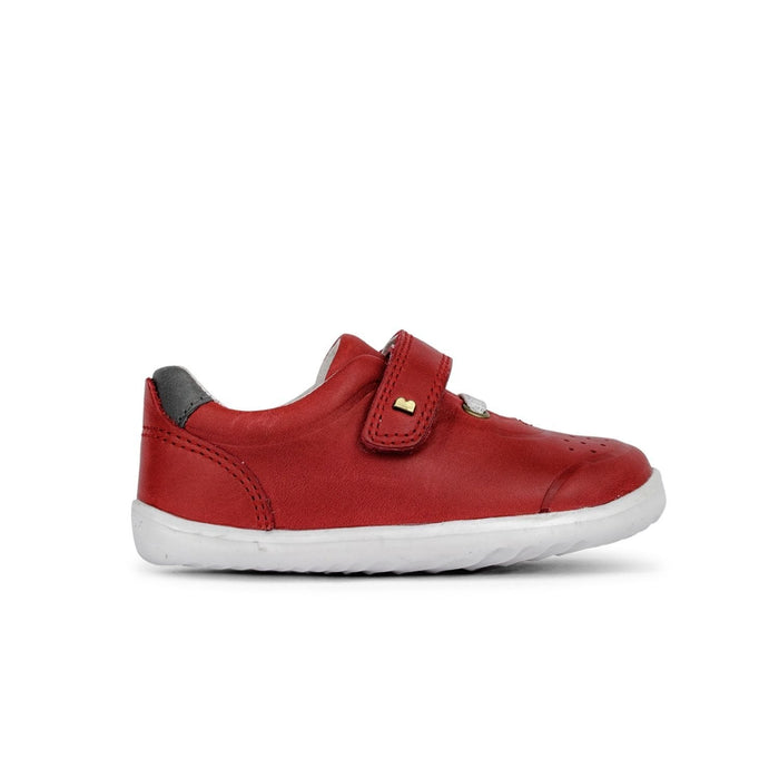 Bobux Step Up Ryder Kids Red + Charcoal - Sole Mechanics Natural Motion Footwear - Australia & New Zealand