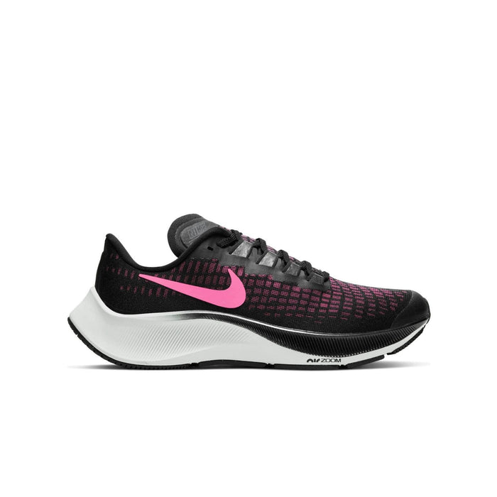 Nike Air Zoom Pegasus 37 (GS) Black/Pink Glow-Smoke Grey-Photon Dust - Left side