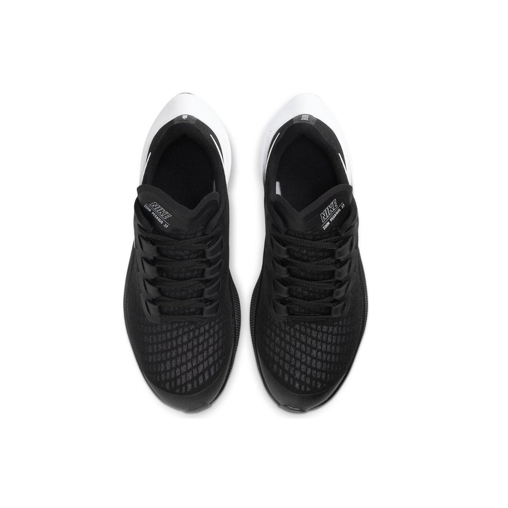 Nike Air Zoom Pegasus 37 GS Kids Black/White - Top view