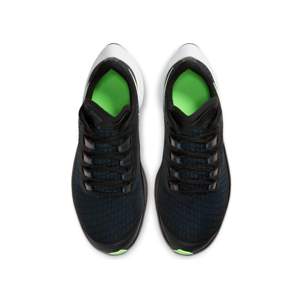 Nike Air Zoom Pegasus 37 Kids (GS) Black/Lime Blast-Valerion Blue-White - Top view
