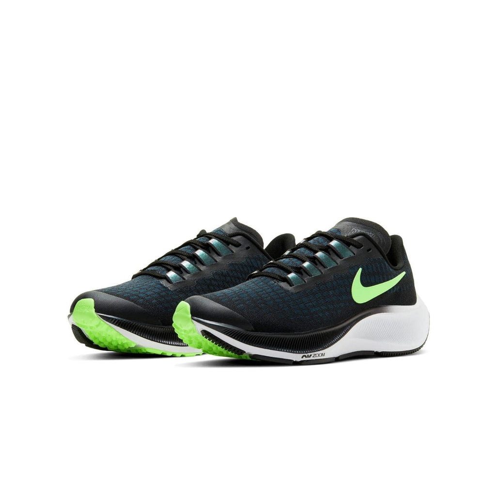 Nike Air Zoom Pegasus 37 Kids (GS) Black/Lime Blast-Valerion Blue-White - pair view