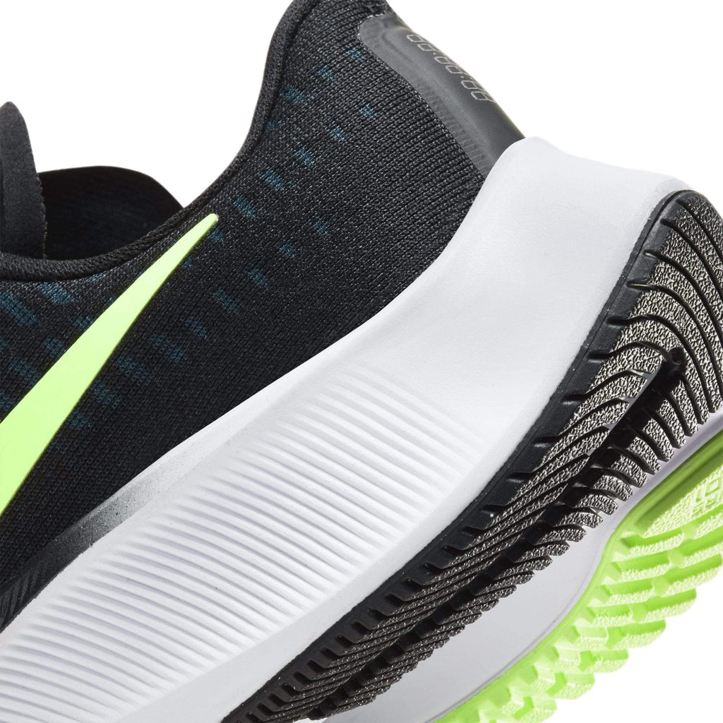 Nike Air Zoom Pegasus 37 Kids (GS) Black/Lime Blast-Valerion Blue-White- close up of a sole