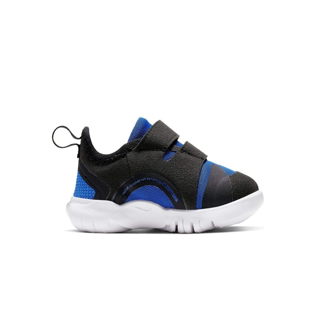 Nike Kids Nike Free 5.0 Racer Toddlers Blue/Black-White - Left sdie view
