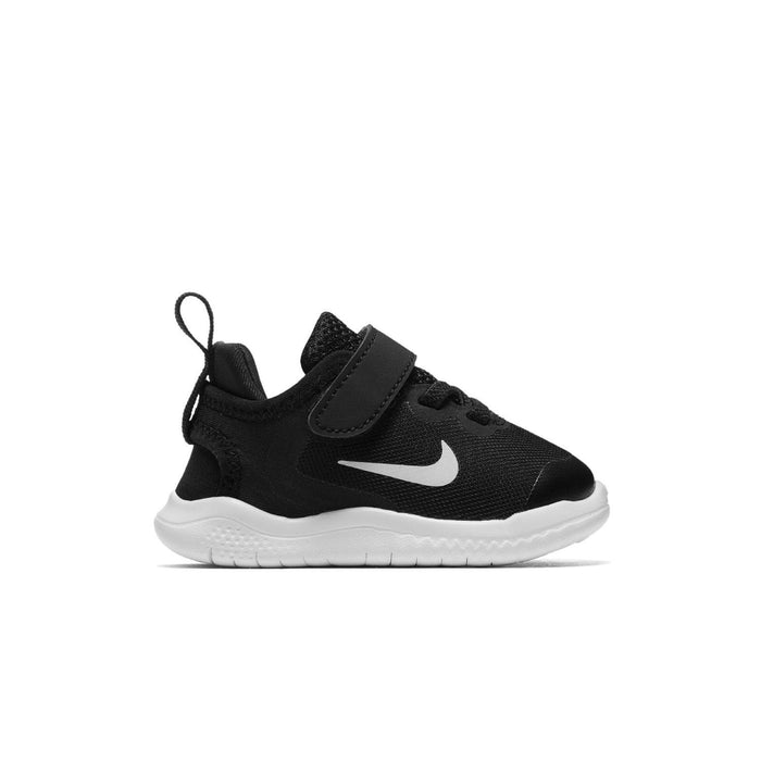 Nike Free Rn 2018 (TDV) Kids Black/White-Dk Grey-Anthracite Right Side View