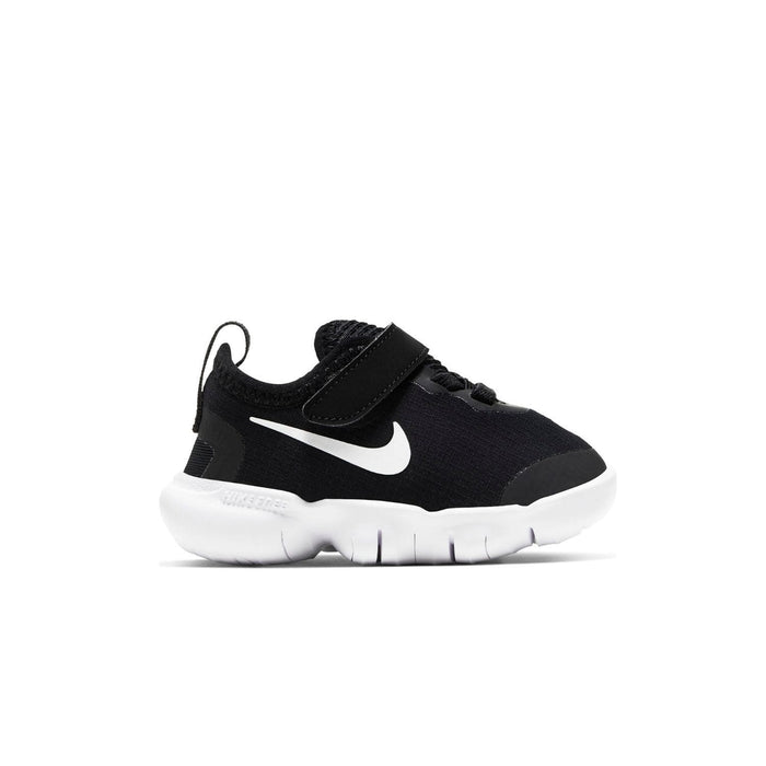 Nike Free RN 5.0 2020 (TDV) Kids Black/White - Anthracite - Volt - Left side