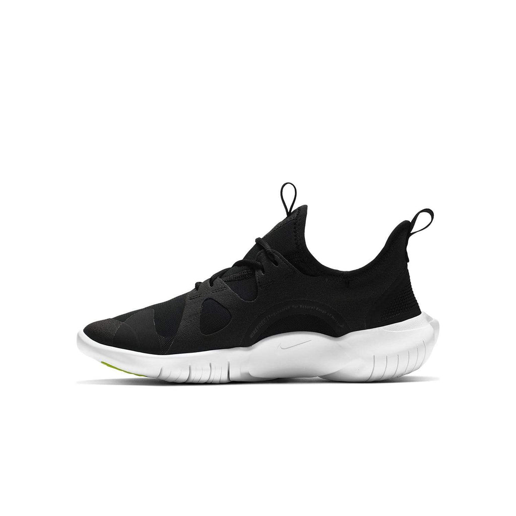Nike Kids Nike Free RN 5.0 GS Kids Black/White- Anthracite -Volt - Left side view