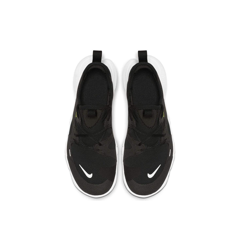 Nike Kids Nike Free RN 5.0 GS Kids Black/White- Anthracite -Volt - Top view