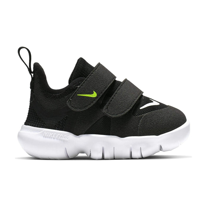 Nike Kids Nike Free RN 5.0 TDV Toddler Black/White Anthracite Volt Nike Free RN 5.0 TDV Kids | Sole Mechanics