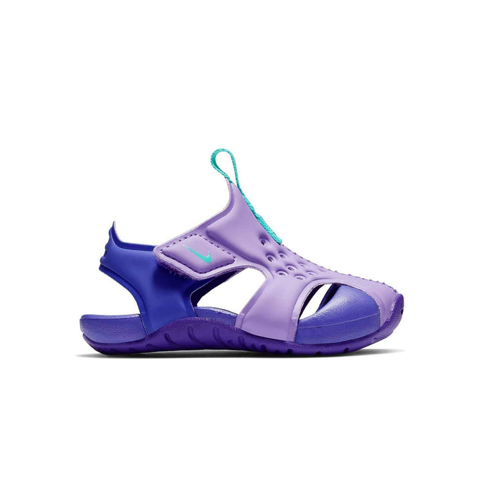 Nike Sunray Protect 2 Sandal Kids TD Atomic Violet Hyper Jade-Hyper Grape - Sole Mechanics Natural Motion Footwear - Australia & New Zealand