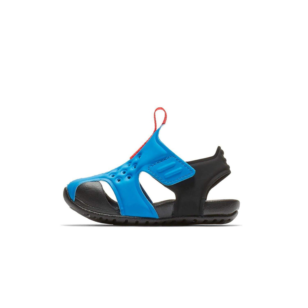 Nike Kids Nike Sunray Protect 2 Sandal Kids TD Photo Blue/Bright Crimson-Black - Left side view