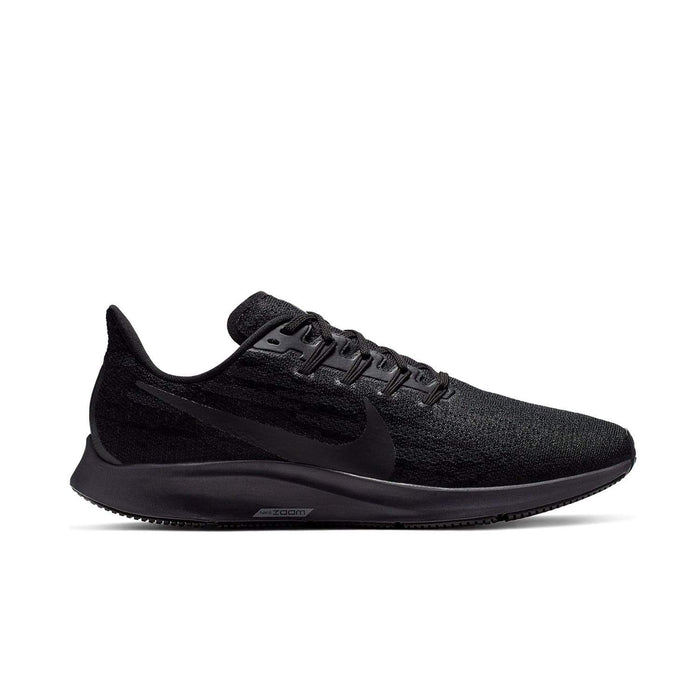 Nike Mens Nike Air Zoom Pegasus 36 Mens Black/Black-Oil Grey-Thunder Grey