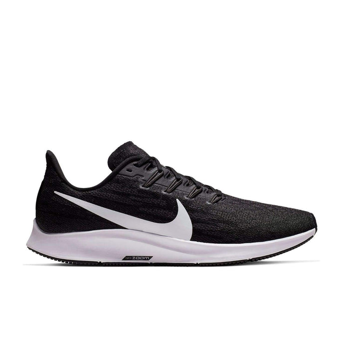 Nike Air Zoom Pegasus 36 Mens Black White Thunder Grey - Sole Mechanics Natural Motion Footwear - Australia & New Zealand