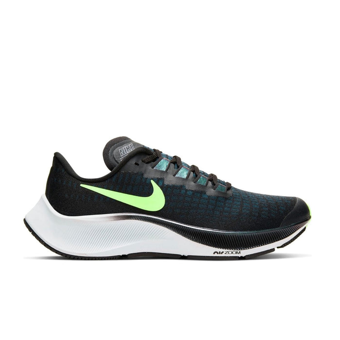 Nike Air Zoom Pegasus 37 Mens Black Lime Blast-Valerion Blue-White - Sole Mechanics Natural Motion Footwear - Australia & New Zealand