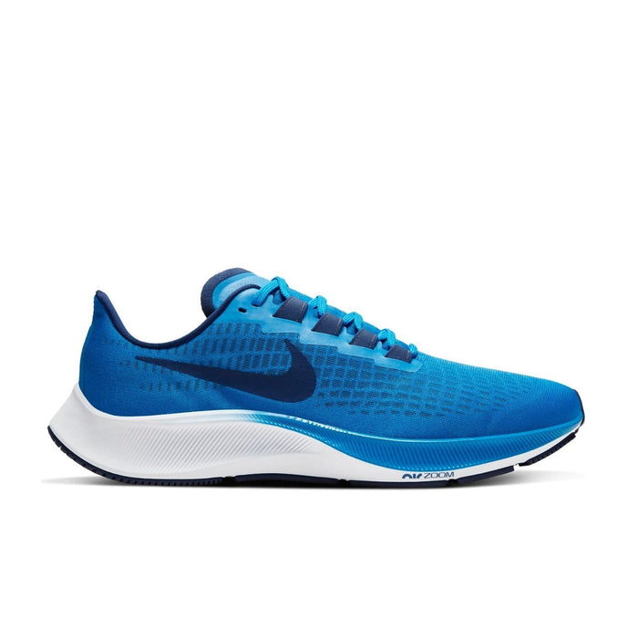 Nike Air Zoom Pegasus 37 Mens Photo Blue Blue Void-White - Sole Mechanics Natural Motion Footwear - Australia & New Zealand