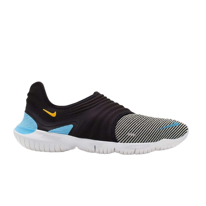 Nike Free RN FLYKNIT 3.0 Mens Black University Blue-White - Sole Mechanics Natural Motion Footwear - Australia & New Zealand