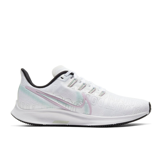 Nike Womens Nike Air Zoom Pegasus 36 PRM Womens White/Iced Lilac/Black Blanc/Noir/Lilas Glace - Left side view