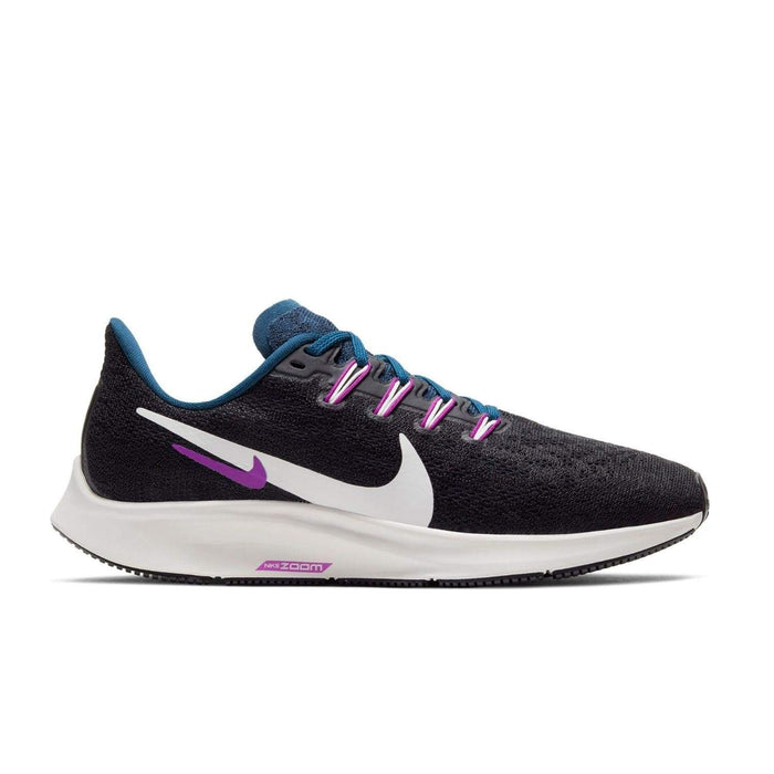Nike Air Zoom Pegasus 36 Womens Black/Summit White-Valerian Blue - Right side view