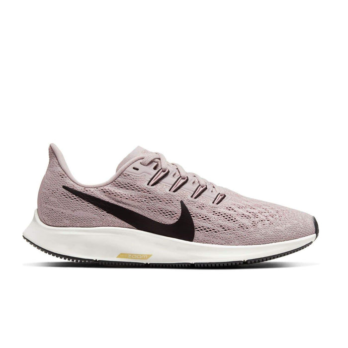 Nike Womens Nike Air Zoom Pegasus 36 Womens Platinum Violet/Black Plum Chalk Sail - Right side view